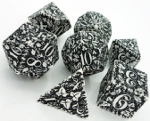 White & Black Forest 3D Dice Set